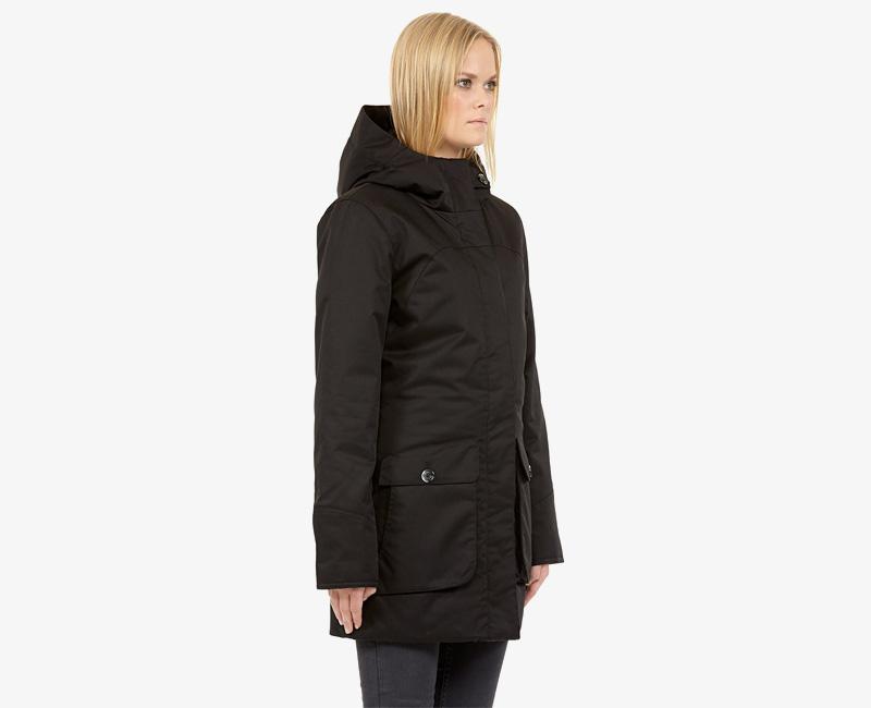 Elvine – dámská zimní parka s kapucí, zimní bunda s kapucí, tmavě modrá, Cornelia | Dámské zimní bundy a parky