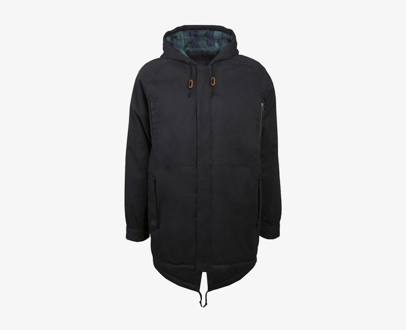 Pánská zimní bunda (parka) s kapucí — Mazine Liverpool — černá | Pánské zimní bundy a parky s kapucí