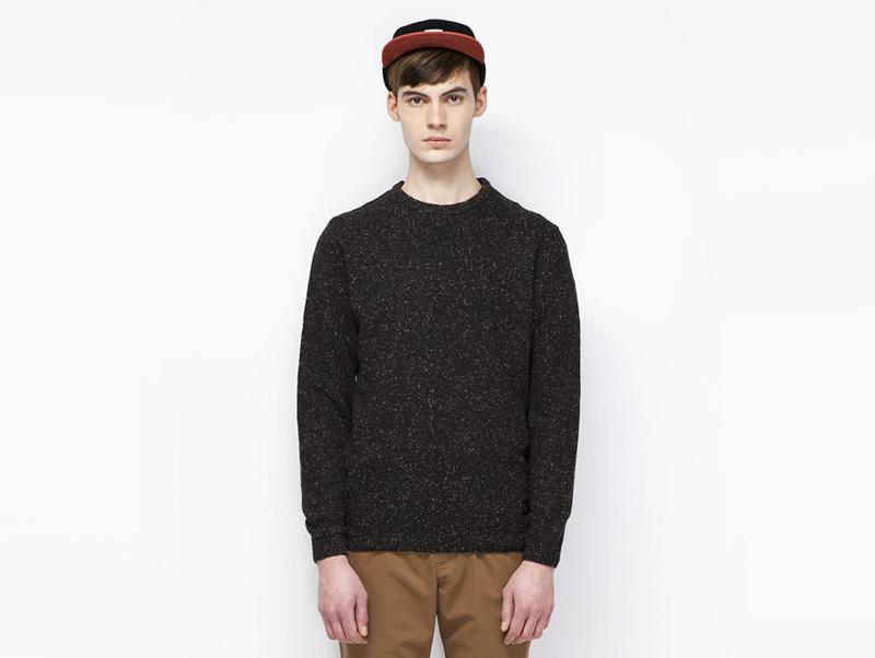 Ucon Acrobatics – pánský černý svetr s bílou texturou | Pánské značkové oblečení