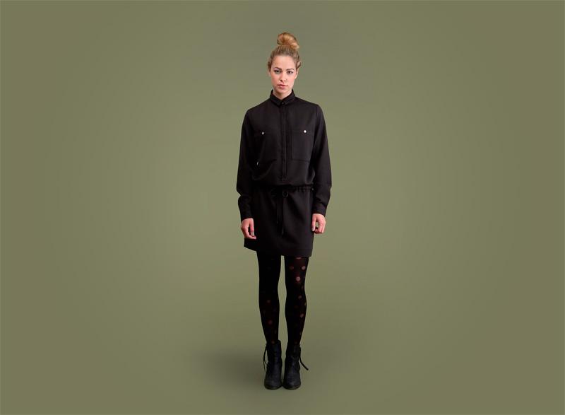 Wemoto – dámské podzimní/zimní černé šaty | Dámské podzimní/zimní oblečení