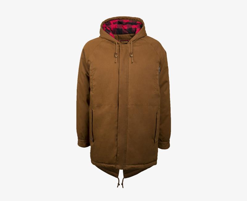 Pánská zimní bunda (parka) s kapucí — Mazine Liverpool — hnědá | Pánské zimní bundy a parky s kapucí