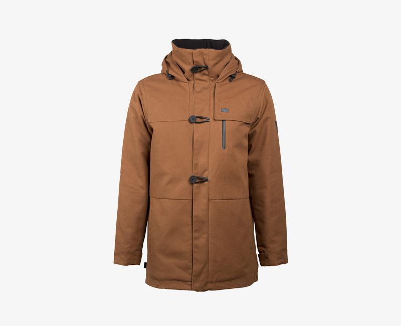 Pánská zimní bunda (parka) s kapucí — Mazine Tokyo — hnědá | Pánské zimní bundy a parky s kapucí