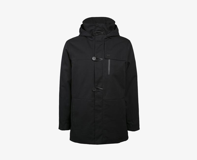 Pánská zimní bunda (parka) s kapucí — Mazine Tokyo — černá | Pánské zimní bundy a parky s kapucí
