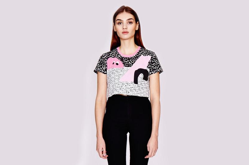 Lazy Oaf – dámské krátké tričko pod prsa, krátký top, grafické vzory | Dámské oblečení