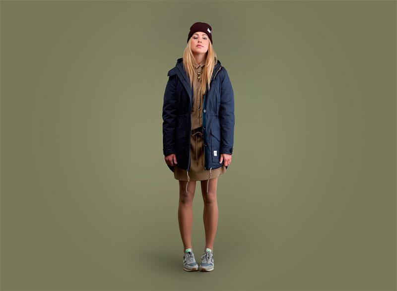 Wemoto – dámská zimní bunda/parka – modrá | Dámské podzimní/zimní oblečení