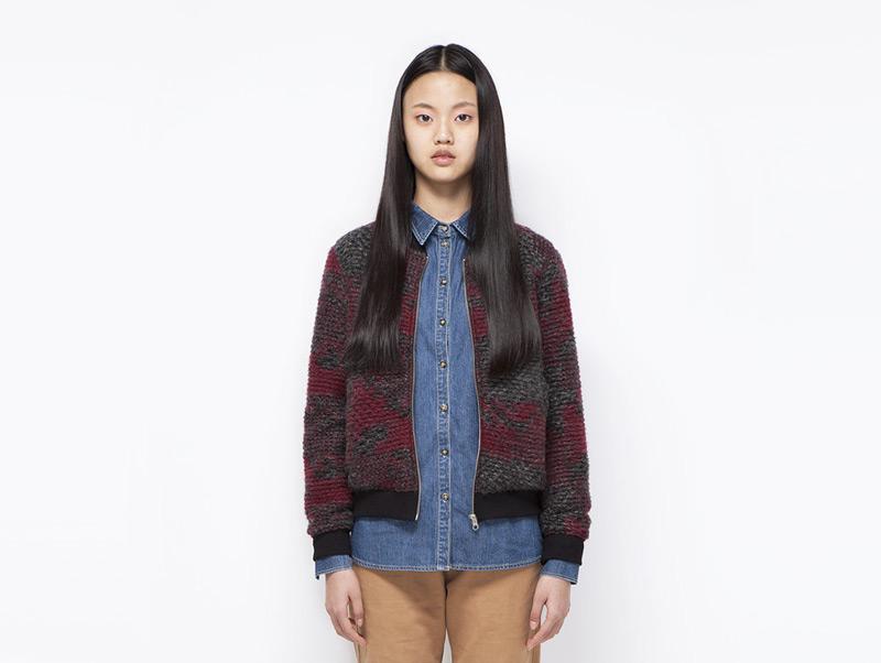Ucon Acrobatics – dámská bunda podzimní do pasu na zip, červená, šedá | Dámské značkové oblečení