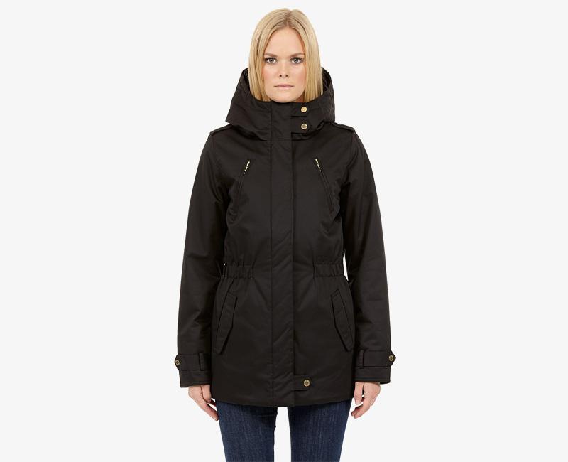 Elvine – dámská zimní bunda s kapucí, zimní parka s kapucí, černá, Gunnel | Dámské zimní bundy a parky