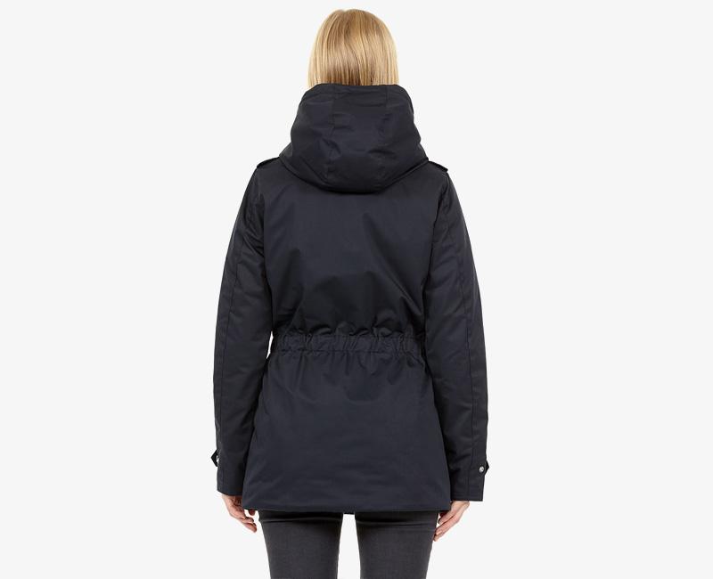 Elvine – dámská zimní bunda s kapucí, zimní parka s kapucí, tmavě modrá námořnická, Gunnel | Dámské zimní bundy a parky