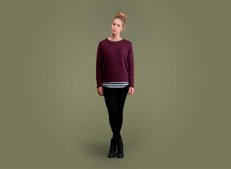 Wemoto – dámský svetr – bordó (vínový) | Dámské podzimní/zimní oblečení