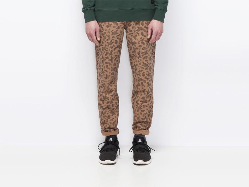 Ucon Acrobatics – pánské hnědé kalhoty se skvrnami | Pánské značkové oblečení