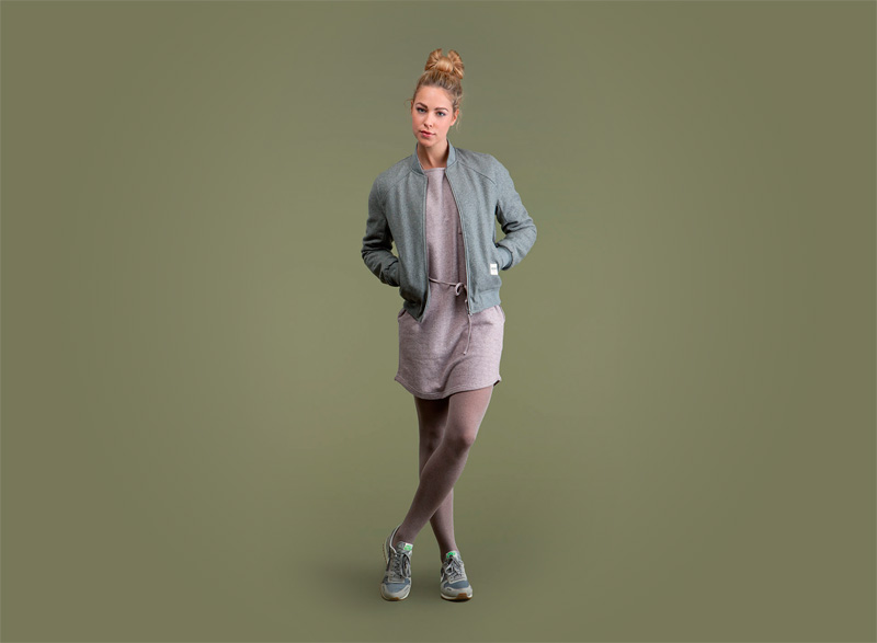 Wemoto – dámská mikina do pasu na zip – bledě (světle) zelená | Dámské podzimní/zimní oblečení