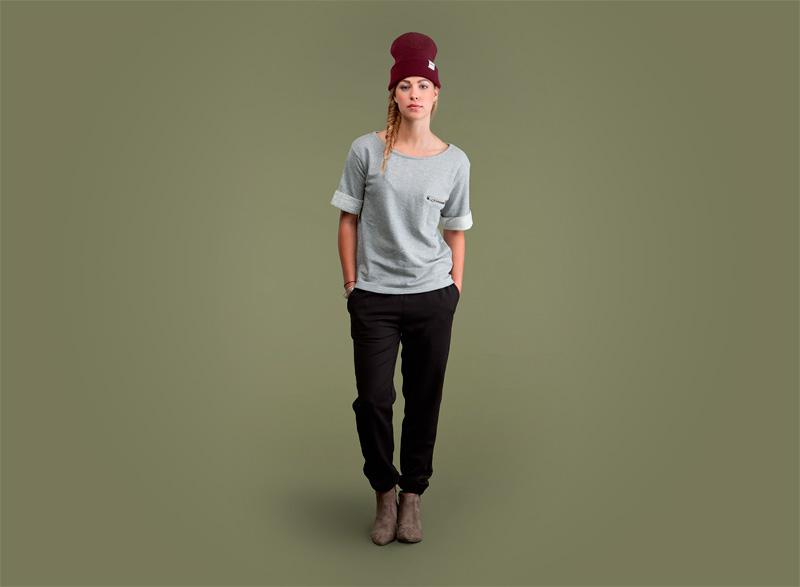 Wemoto – dámské tričko, černé joggers kalhoty | Dámské podzimní/zimní oblečení
