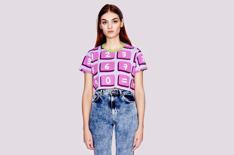 Lazy Oaf – dámský top/tričko s motivem kalkulačky | Dámské oblečení