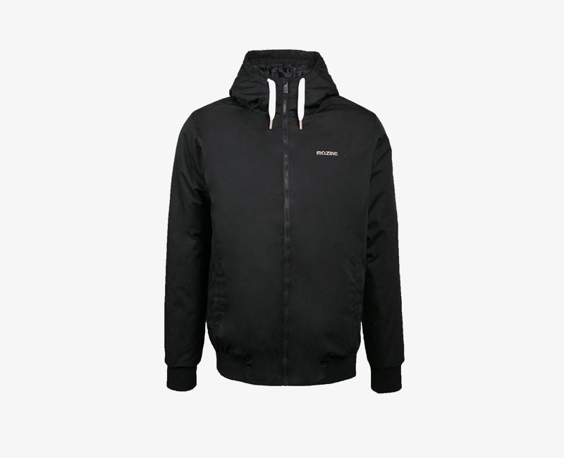 Pánská zimní bunda s kapucí — Mazine Campus — černá | Pánské zimní bundy a parky s kapucí