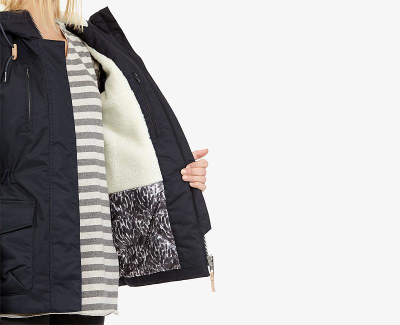 Elvine – dámská zimní bunda s kapucí, tmavě modrá, Hailey | Dámské zimní bundy a parky