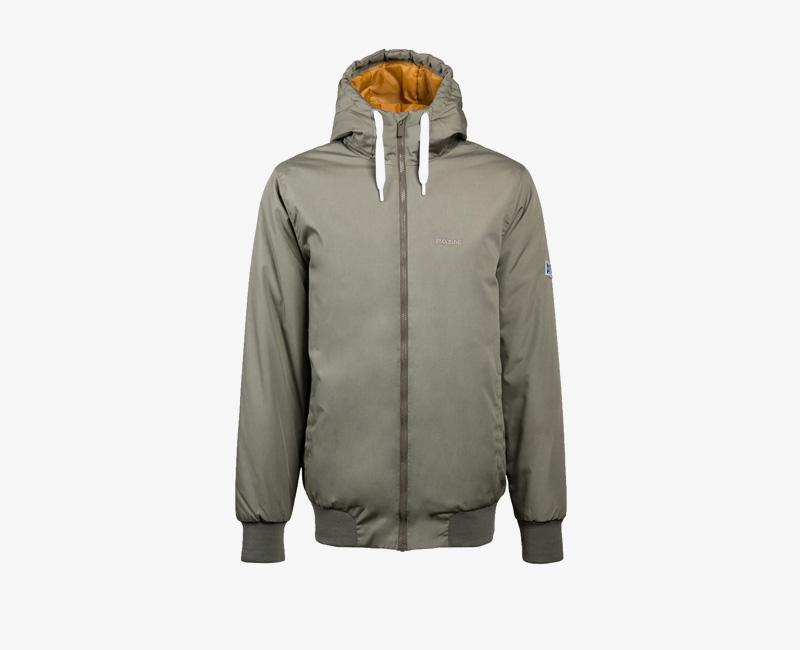 Pánská zimní bunda s kapucí — Mazine Campus — olivová zelená | Pánské zimní bundy a parky s kapucí