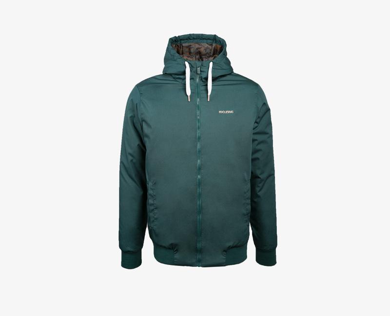 Pánská zimní bunda s kapucí — Mazine Campus — zelená | Pánské zimní bundy a parky s kapucí