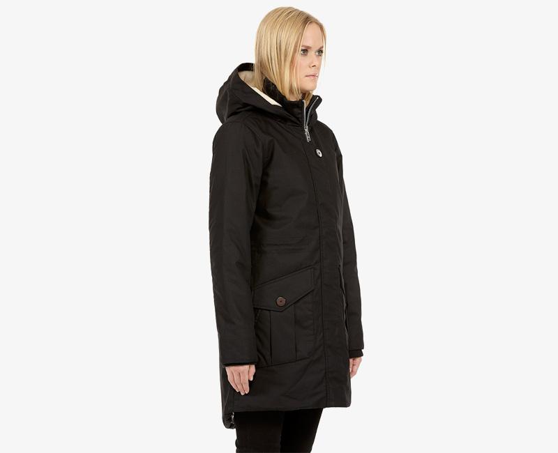 Elvine – dámská dlouhá zimní parka/bunda s kapucí, černá, Josefina | Dámské zimní bundy a parky