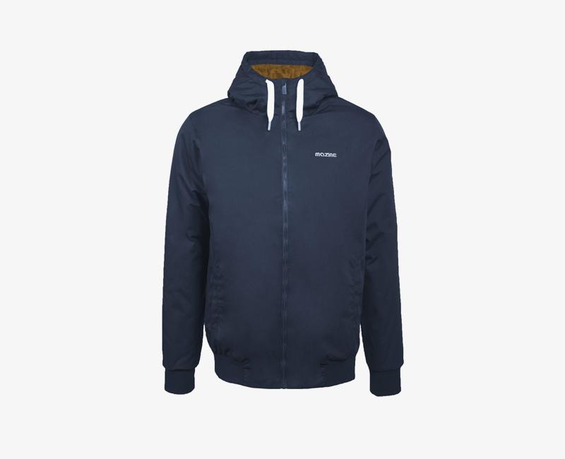 Pánská zimní bunda s kapucí — Mazine Campus — modrá | Pánské zimní bundy a parky s kapucí