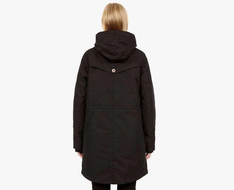 Elvine – dámská dlouhá zimní bunda/parka s kapucí, černá, Josefina | Dámské zimní bundy a parky