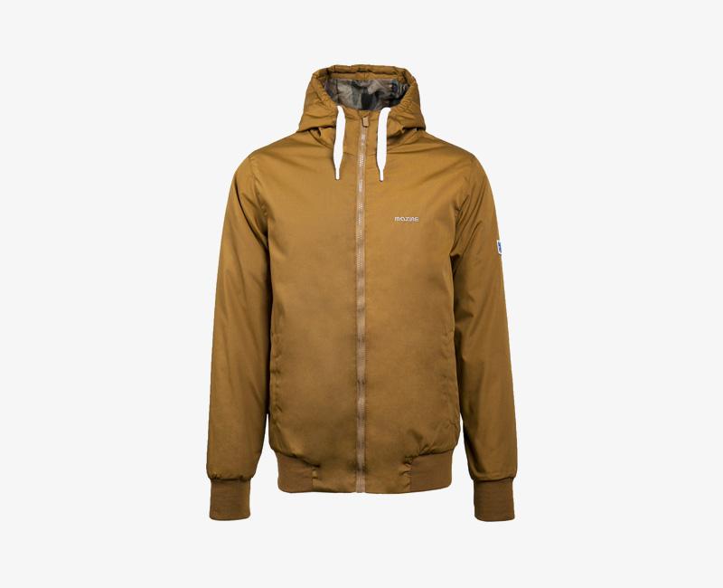Pánská zimní bunda s kapucí — Mazine Campus — hnědá | Pánské zimní bundy a parky s kapucí