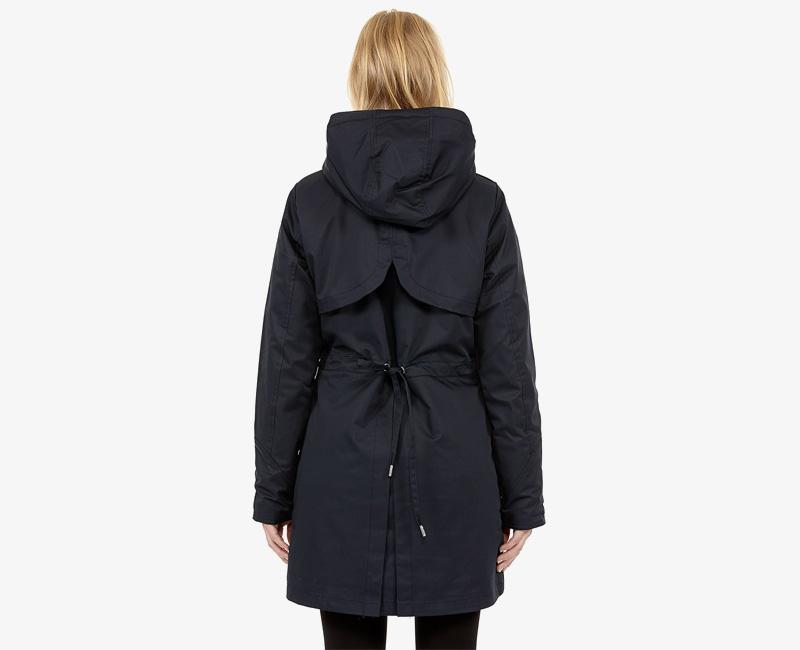 Elvine – dámská dlouhá zimní bunda/parka s kapucí, tmavě modrá námořnická, Kate | Dámské zimní bundy a parky