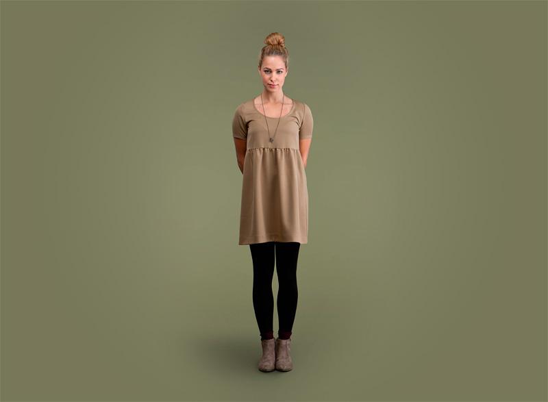 Wemoto – hnědé šaty | Dámské podzimní/zimní oblečení