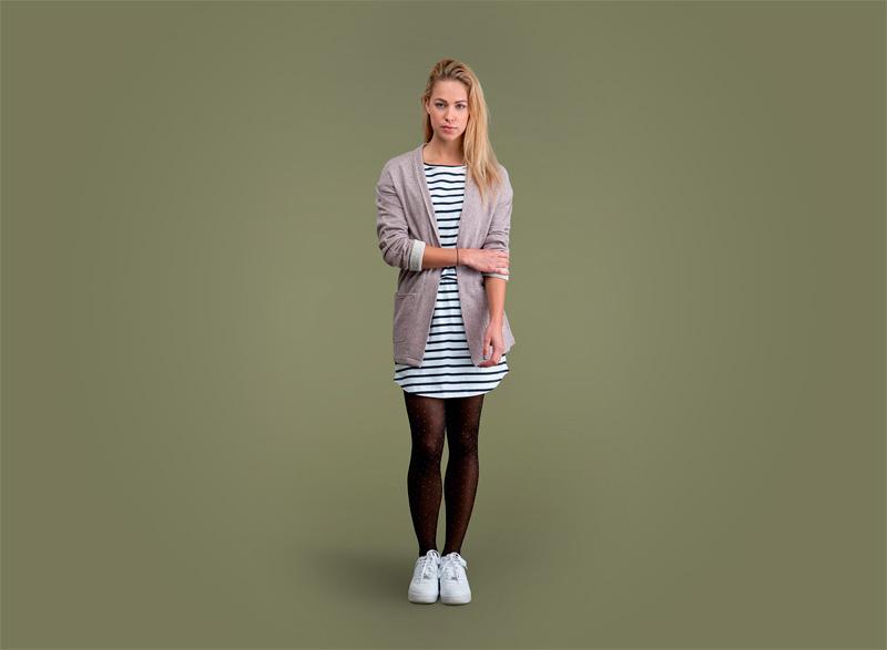 Wemoto – dámský svetr bez zapínání – světle hnědý | Dámské podzimní/zimní oblečení
