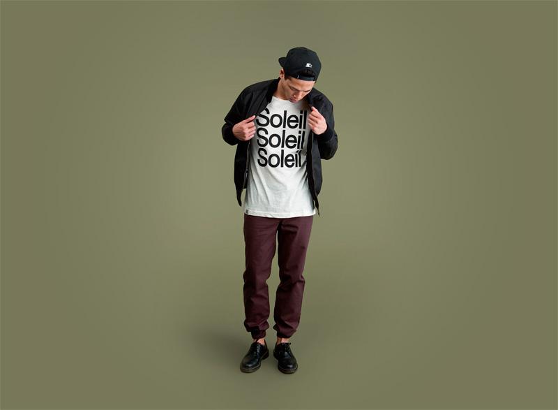 Wemoto – pánské bordó (vínové) joggers kalhoty, bílé tričko s potiskem | Pánské podzimní/zimní oblečení