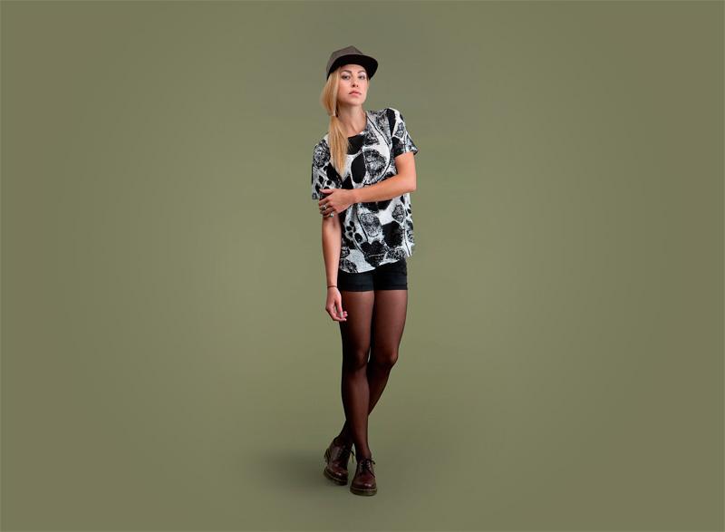 Wemoto – dámské tričko se vzorem – krátký rukáv | Dámské podzimní/zimní oblečení
