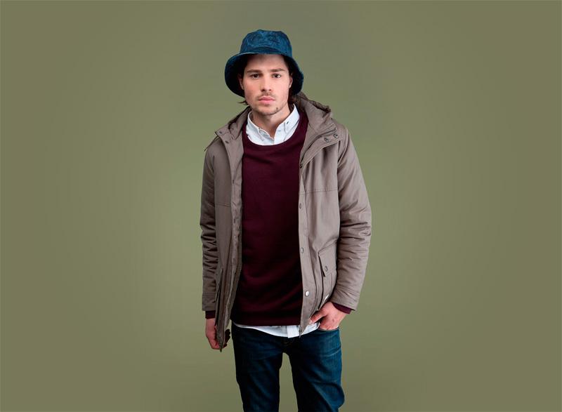 Wemoto – pánská podzimní/zimní bunda s kapucí, ebenová | Pánské podzimní/zimní oblečení