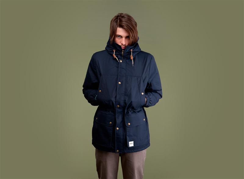 Wemoto – pánská podzimní/zimní parka/bunda s kapucí – modrá | Pánské podzimní/zimní oblečení