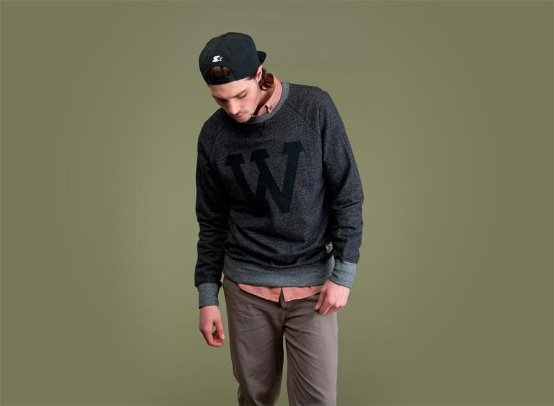Wemoto – tmavě šedá pánská mikina – pánská | Pánské podzimní/zimní oblečení
