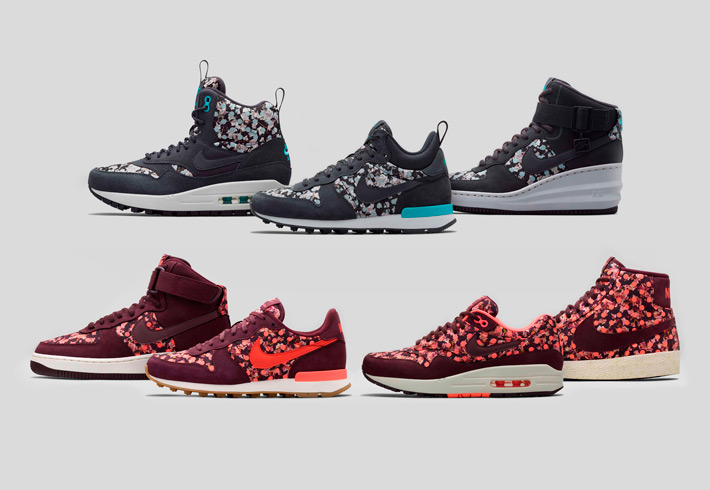 Nike x Liberty – dámské kotníkové boty a tenisky se vzory