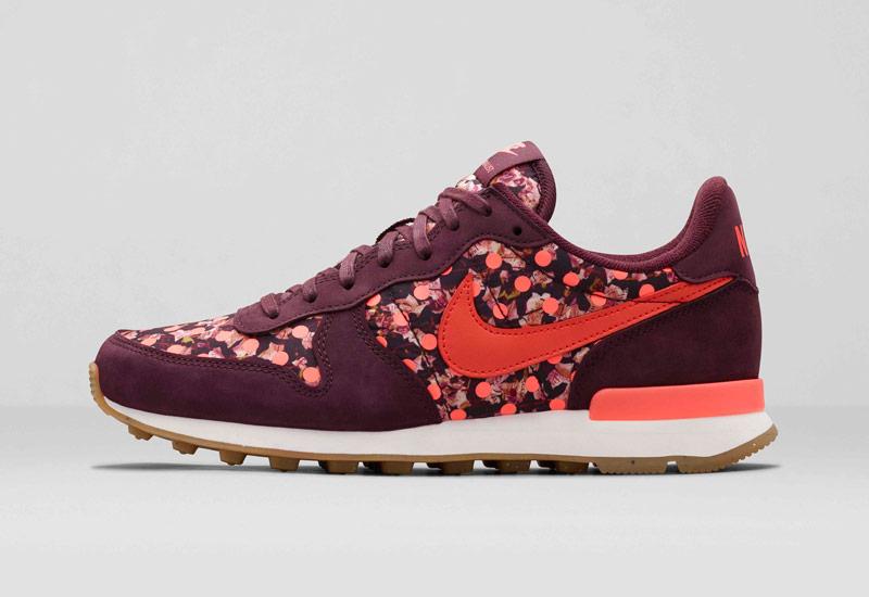 Boty Nike x Liberty – Internationalist, se vzory, vínové, oranžové | Dámské tenisky