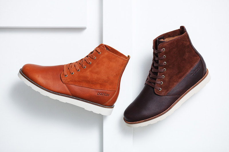 Boty Pointer – pánské, dámské – zimní, vysoké, hnědé, tmavě hnědé, boots, kožené