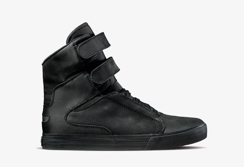 Boty Supra Society II – černé, kožené | Dámské a pánské kotníkové boty, sneakers