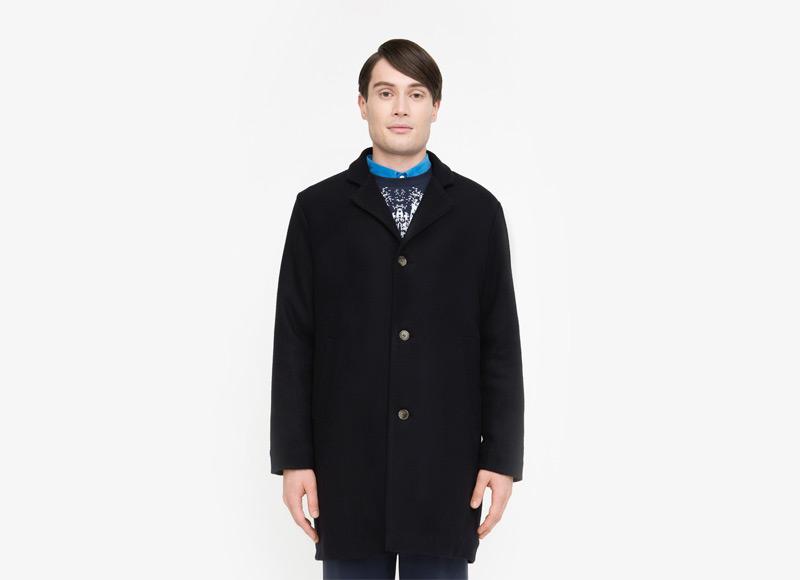 Frisur – pánský černý kabát | Podzimní a zimní oblečení – pánské