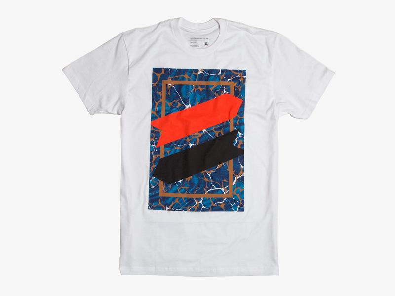 Ghostly International – bílé tričko s potiskem, Underscore,  studio Koivu | Originální trička s potiskem