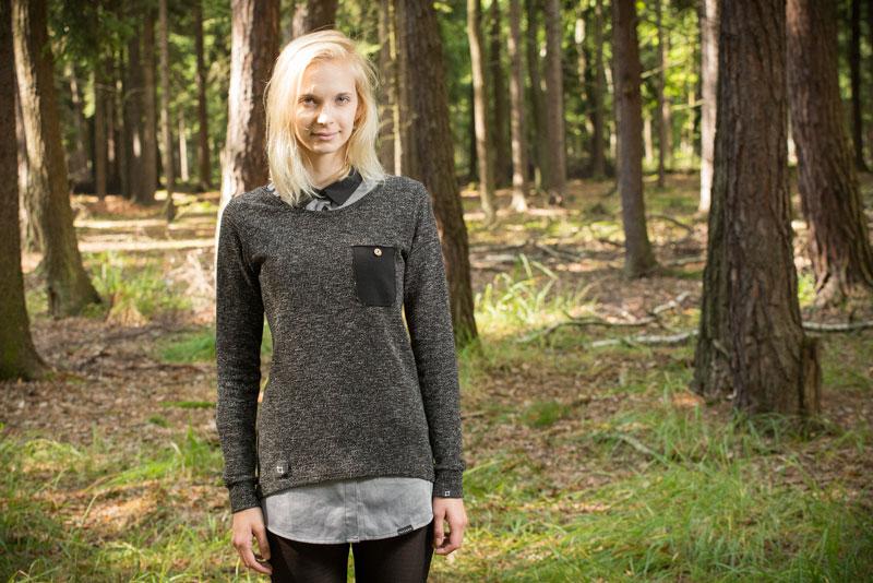 Pattern – dámský šedý svetr | Dámské oblečení