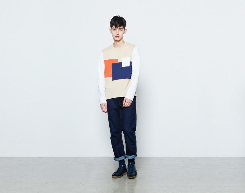 Aloye – pánské barevné tričko s dlouhým rukávem, kapsičkou, mikina | Japonská móda