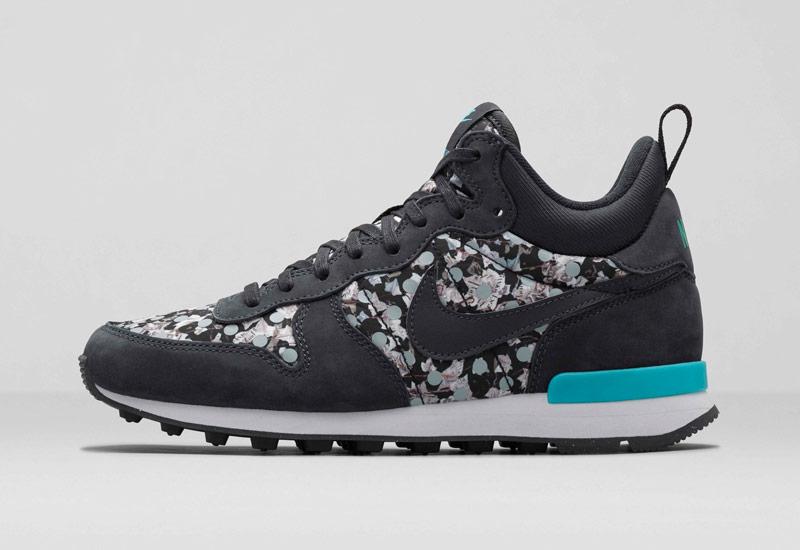 Boty Nike x Liberty – Internationalist Mid, se vzory, černé | Dámské kotníkové tenisky