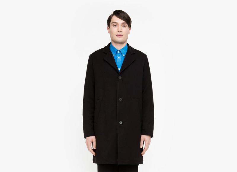 Frisur – pánský kabát, černý | Podzimní a zimní oblečení – pánské