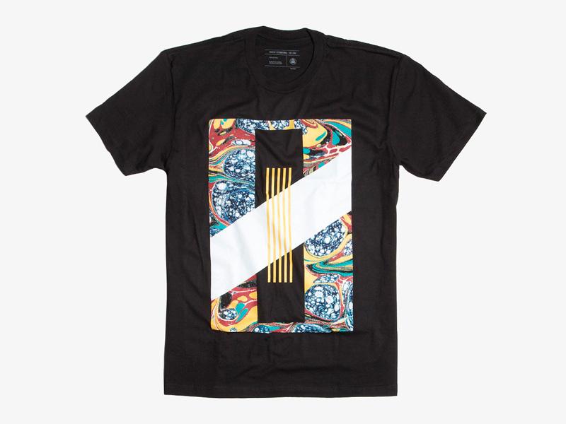 Ghostly International – černé tričko s potiskem, Pools, studio Koivu | Originální trička s potiskem