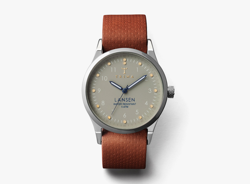 Hodinky Triwa – pánské – ocelové pouzdro, hnědý řemínek – Dawn Lansen | Náramkové luxusní hodinky