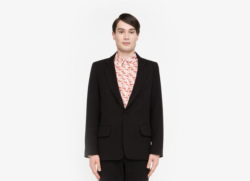Frisur – pánské sako, černé | Podzimní a zimní oblečení – pánské