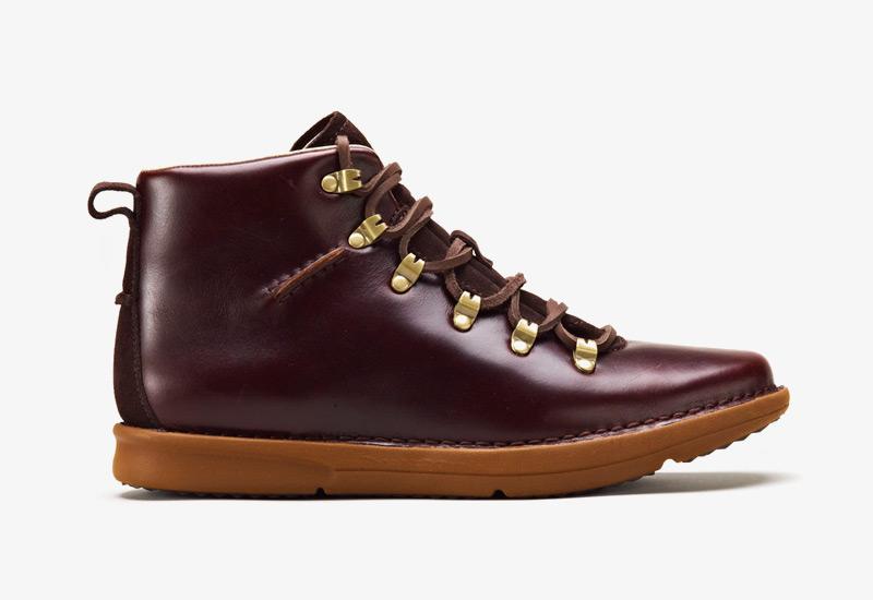 Pánské zimní boty ohw? – Dan, podzimní boty, hnědo-vínové, kožené | Vysoké kotníkové boots
