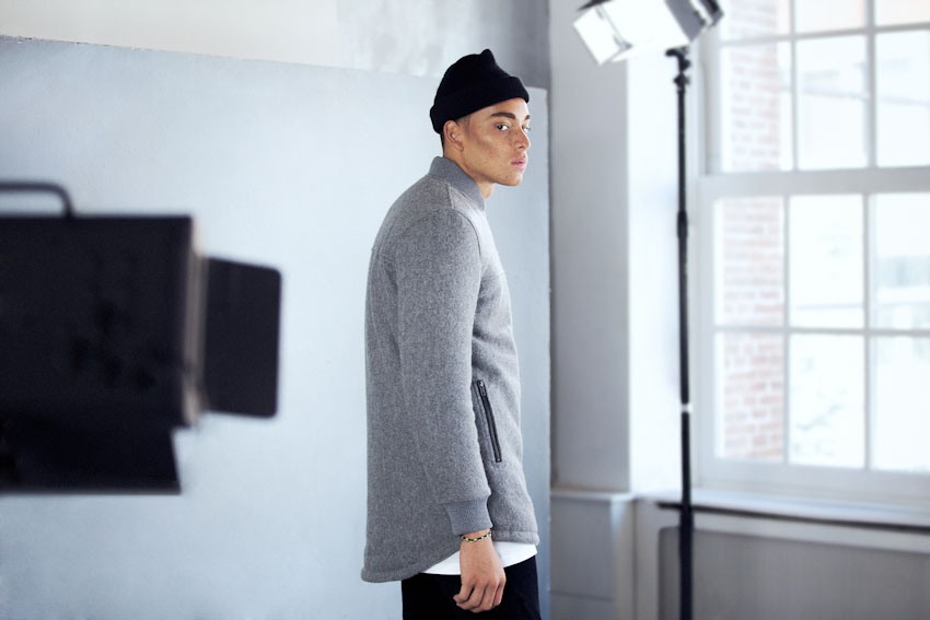 Daily Paper – pánská šedá podzimní bunda bez kapuce | Pánské podzimní a zimní oblečení