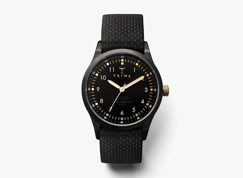 Hodinky Triwa – dámské – černé, černý náramek, černé ocelové pouzdro – Midnight Lansen | Náramkové luxusní hodinky