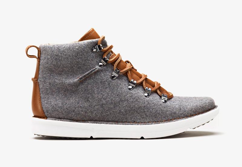 Pánské zimní boty ohw? – Dan, podzimní boty, plstěné, šedé | Vysoké kotníkové boots